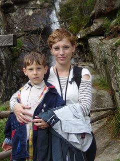 FOTKA - S Lukynem u Obrovského vodopádu