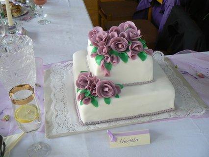 FOTKA - svatební dort