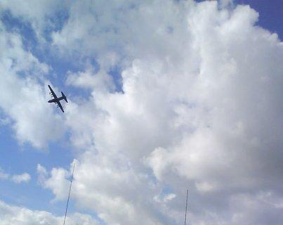 FOTKA - letadlo v oblacích.