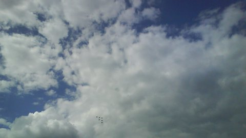 FOTKA - letadlo v oblacích,