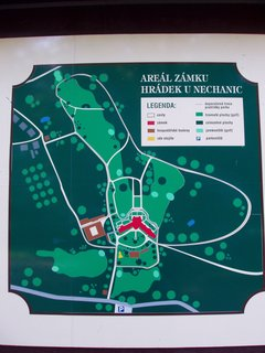 FOTKA - Hrádek u Nechanic - plánek parku