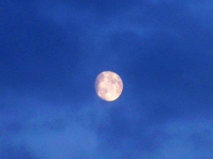 FOTKA - měsíc na obloze.,,,.,,,