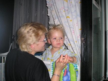 FOTKA - Tady je vidět, jak mám s maminkou úůplně stejné vlásky