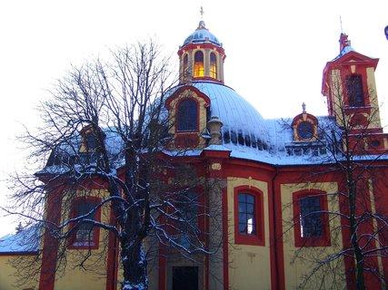 FOTKA - včerejší ranní zimní procházka, kostel Sv. Jakuba Většího, Kunratice