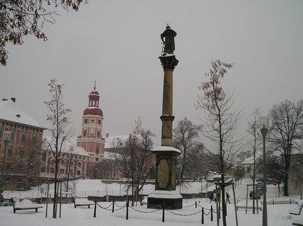 FOTKA - Roudnické náměstí v mrazu