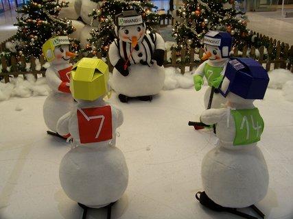 FOTKA - nákupní centrum Arkády Praha, hokejisté