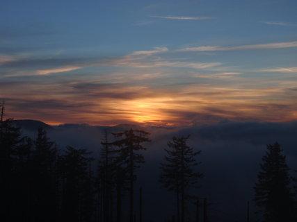 FOTKA - Západ slunce v horách