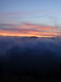 FOTKA - Západ slunce na horách ......