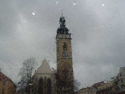 FOTKA - Soběslavská věž v dešti