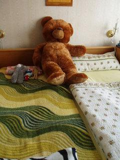 FOTKA - spím s medvědem :)