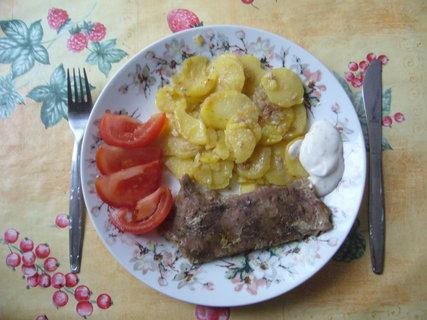 FOTKA - Hotové upečené maso s brambory